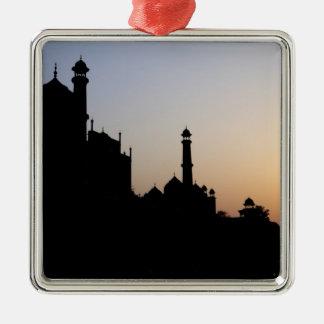 Silueta del Taj Mahal en la puesta del sol Agra Adornos