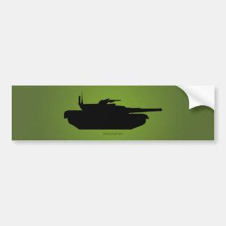 Silueta del tanque pegatina para auto