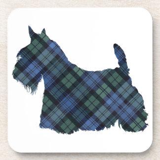 Silueta del tartán de Terrier del escocés Posavasos