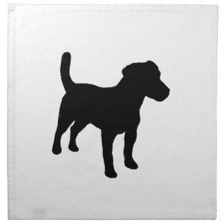 silueta del terrier de Russell del enchufe Servilletas Imprimidas