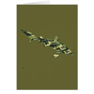Silueta del tiburón del camuflaje tarjeta de felicitación