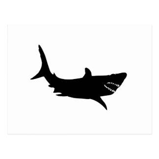 Silueta del tiburón tarjeta postal