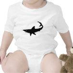 Silueta del tiburón traje de bebé