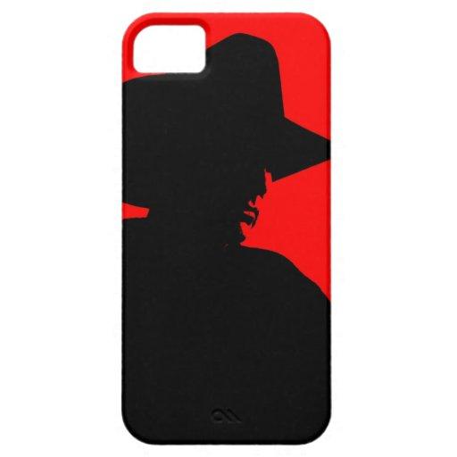 Silueta del vaquero iPhone 5 carcasa