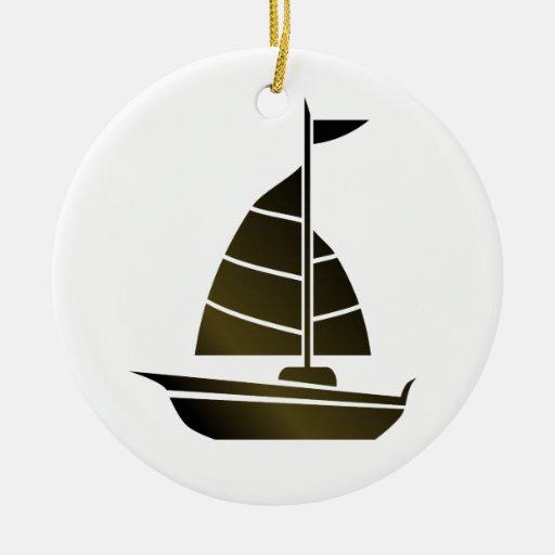 Silueta del velero ornamentos para reyes magos