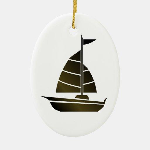 Silueta del velero ornamente de reyes