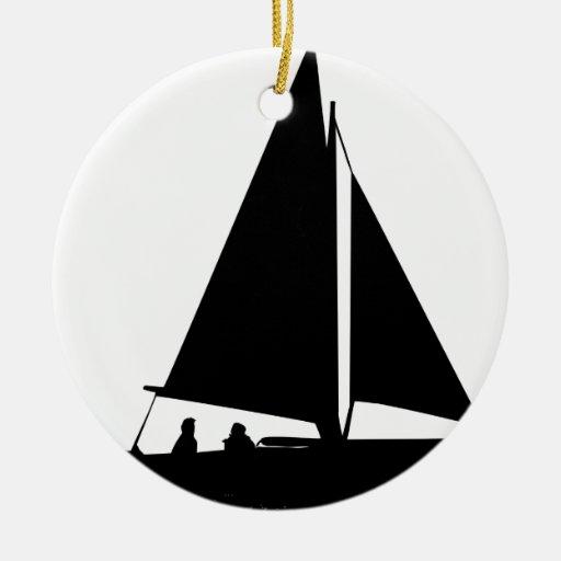 Silueta del velero ornamento para reyes magos