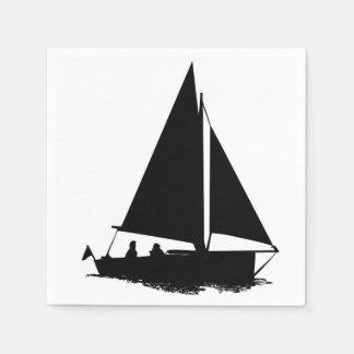 Silueta del velero servilleta desechable
