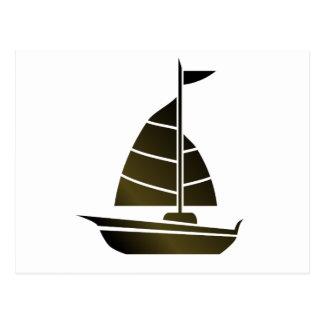 Silueta del velero postales