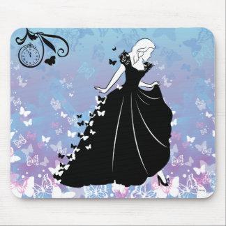 Silueta del vestido de la mariposa de Cenicienta Alfombrilla De Ratón