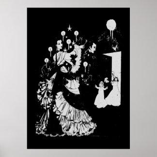 Silueta del Victorian Póster