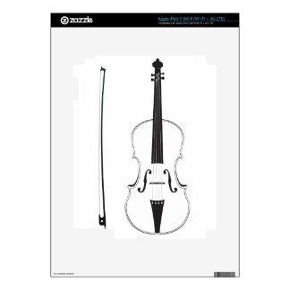 Silueta del violín iPad 3 pegatina skin