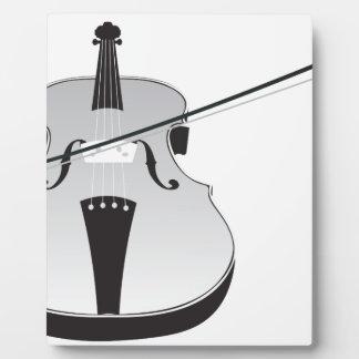 Silueta del violín placas con fotos
