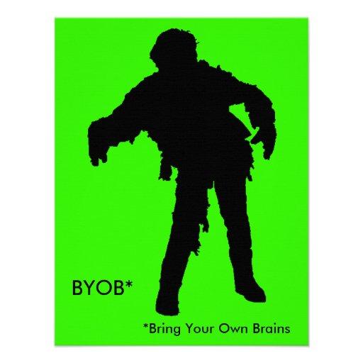 Silueta del zombi anuncio personalizado