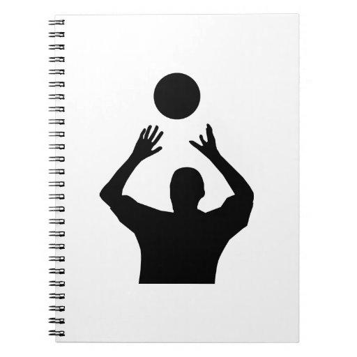 Silueta determinada del voleibol cuaderno