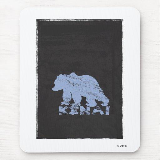 Silueta Disney de Kenai del oso de Brother Alfombrillas De Raton