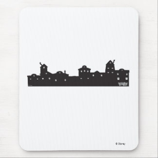 Silueta Disney de la ciudad de Toon Mouse Pads