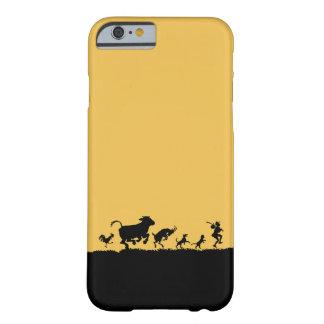 Silueta divertida de la cabra del pollo de la vaca funda de iPhone 6 barely there
