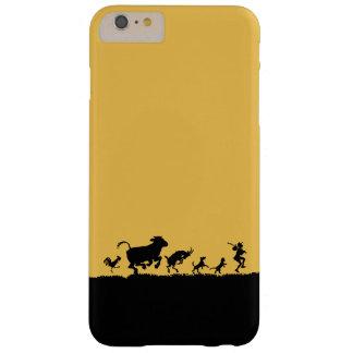 Silueta divertida de la cabra del pollo de la vaca funda de iPhone 6 plus barely there