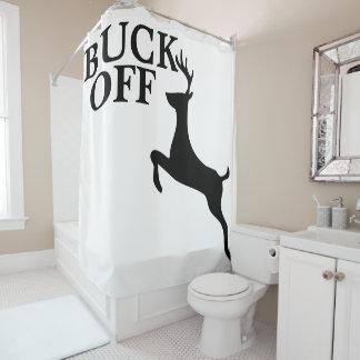 Silueta divertida del antílope del meme de la cortina de baño