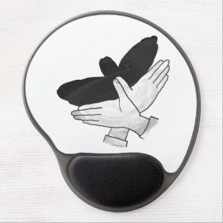 Silueta Eagle de la mano Alfombrillas Con Gel