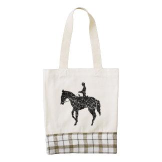 Silueta ecuestre apenada del caballo