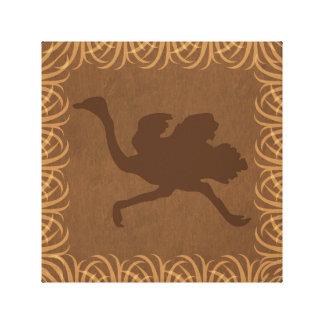 Silueta el   de la avestruz que hace frente a la lona estirada galerías