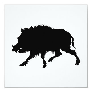 Silueta elegante del jabalí o del cerdo salvaje comunicado personal