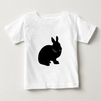 Silueta enana holandesa del conejo playera