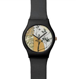 Silueta escasa del árbol de Megan Meagher Relojes