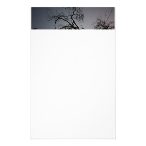 Silueta espeluznante del árbol  papeleria