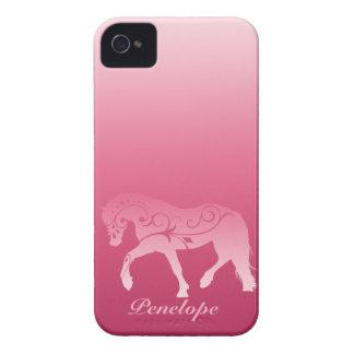 Silueta femenina del caballo de Ombre iPhone 4 Case-Mate Carcasa