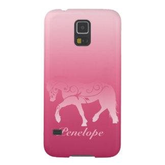 Silueta femenina del caballo de Ombre Funda Para Galaxy S5