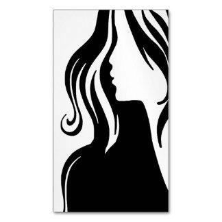 Silueta femenina ~.png estándar tarjetas de visita magnéticas (paquete de 25)
