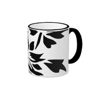 Silueta floral tazas de café