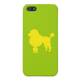 Silueta francesa del caniche (amarillo) iPhone 5 funda