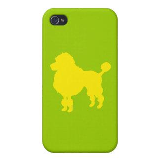 Silueta francesa del caniche (amarillo) iPhone 4/4S carcasa