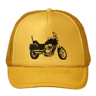 Silueta fresca de la bici de la motocicleta gorra