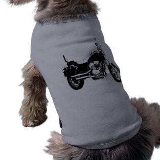 Silueta fresca de la bici de la motocicleta playera sin mangas para perro