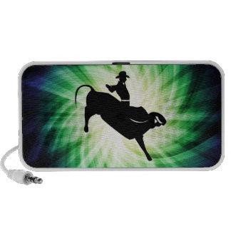 Silueta fresca del jinete de Bull iPod Altavoces