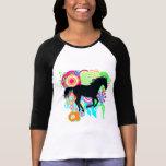 Silueta galopante del caballo camisetas