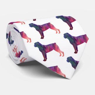 Silueta geométrica colorida del modelo de corbatas