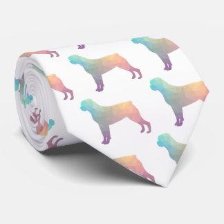 Silueta geométrica colorida del modelo de corbatas personalizadas