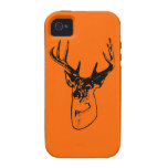 Silueta grande anaranjada del dólar del Whitetail iPhone 4/4S Carcasas