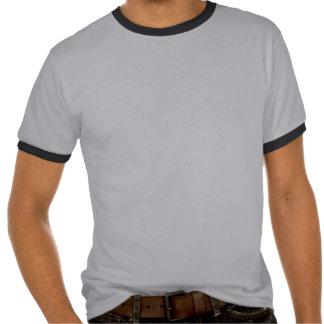 Silueta gris del hipopótamo camisetas