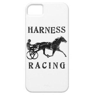 Silueta gris negra del caballo de arnés iPhone 5 Case-Mate carcasa