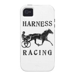 Silueta gris negra del caballo de arnés vibe iPhone 4 funda