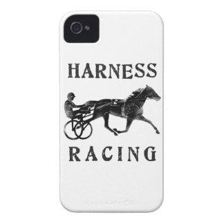 Silueta gris negra del caballo de arnés iPhone 4 cobertura