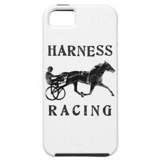 Silueta gris negra del caballo de arnés iPhone 5 cárcasas