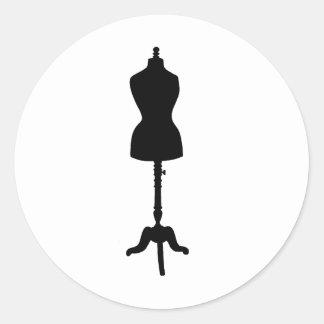 Silueta II de la forma del vestido Etiqueta Redonda